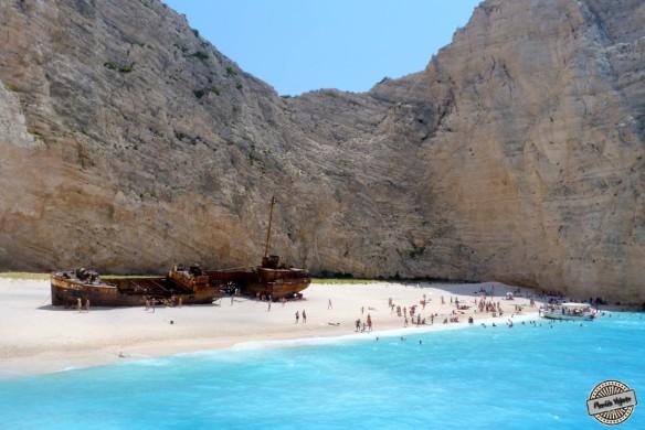 Chegando em uma das praias mais lindas do planeta.